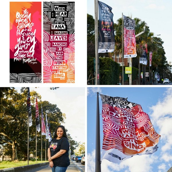 Yala Gari Street banners-Red Room Poetry-Image-Lorna Munro
