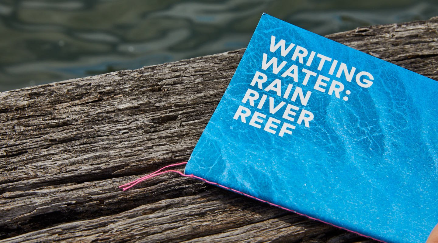 Writing Water-Sydney Ferry-wood dock background-Red Room Poetry